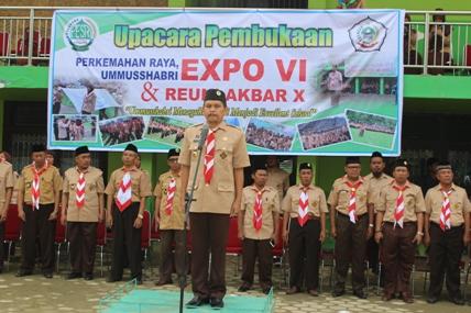 Wakil Ketua Kwarda Pramuka Sultra Buka Perkemahan Raya, Ummusshabri Expo IV dan Reuni Akbar X